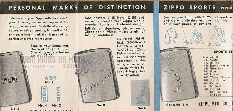 Giấy hướng dẫn sử dụng zippo canada giữa những năm 1950s 3