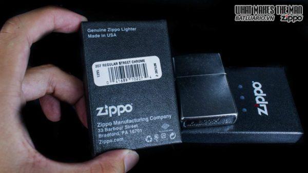 hộp quẹt zippo trơn xước 207 1