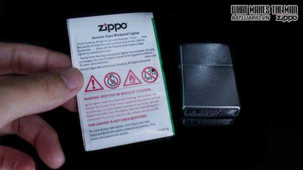 hộp quẹt zippo trơn xước 207 6