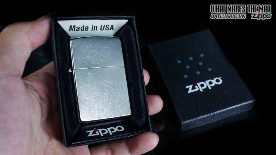 hộp quẹt zippo trơn xước 207 11