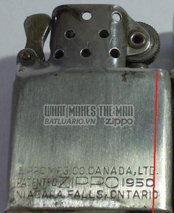 ruột zippo canada năm 1951 - 1954 2