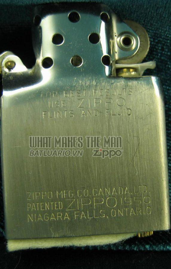 ruột zippo canada năm 1957 - 1959 1