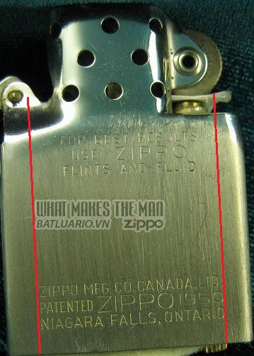 ruột zippo canada năm 1957 - 1959 2