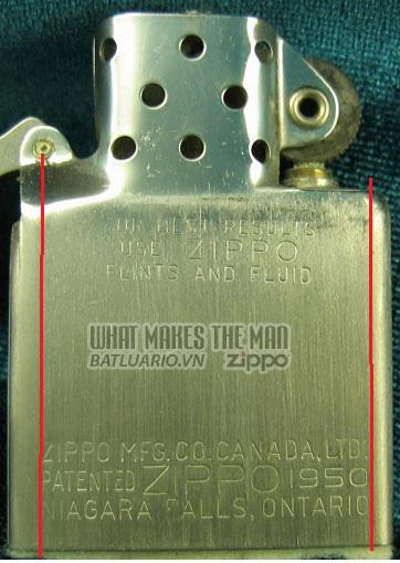 ruột zippo canada năm 1959 - 1963 2