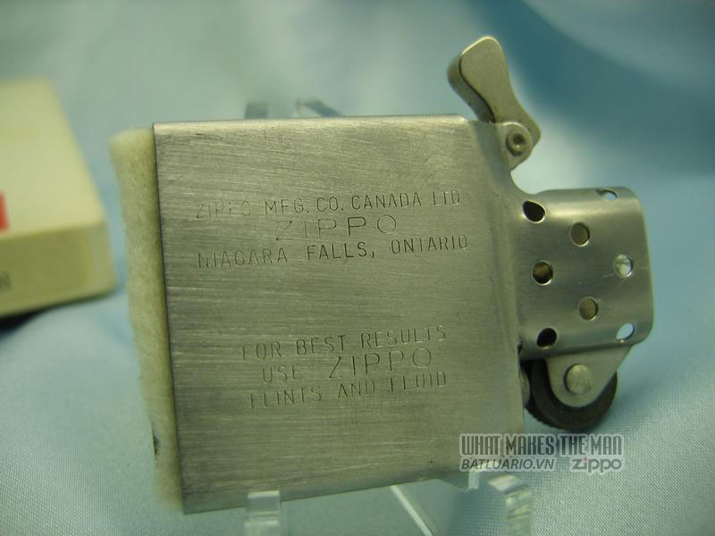 ruột zippo canada năm 1975 - 1986 1
