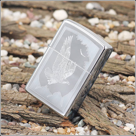 Zippo 21069 - Zippo Birds of Prey High Polish Chrome 1