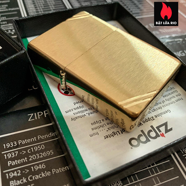 Zippo 240 - Zippo Vintage Brushed Brass 20