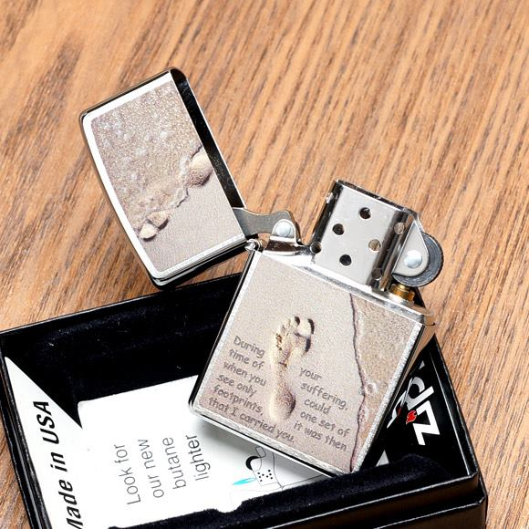 Zippo 28180 - Zippo Footprints in the Sand Brushed Chrome 2