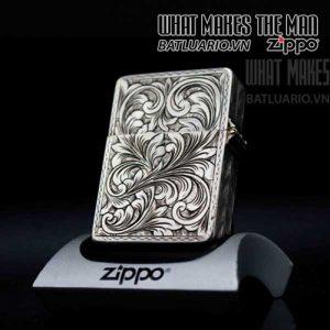Zippo bạc khối italy 3