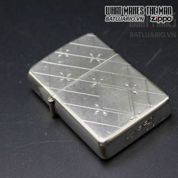 zippo xưa 1952 1954 silver filled 6
