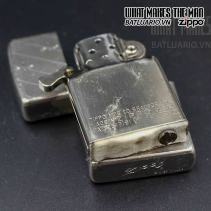 zippo xưa 1952 1954 silver filled 2