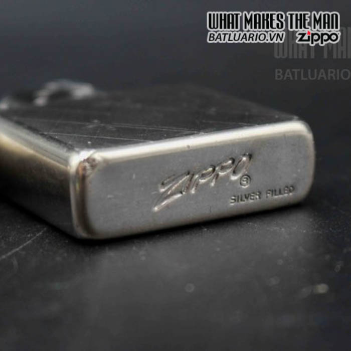 zippo xưa 1952 1954 silver filled 1