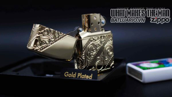 Zippo 2018 Collectible of the Year Gold Plated Armor -ZIPPO COTY 2018 - Zippo GOLDEN SCROLL 1