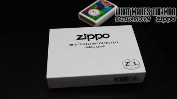 Zippo 2018 Collectible of the Year Gold Plated Armor -ZIPPO COTY 2018 - Zippo GOLDEN SCROLL 10