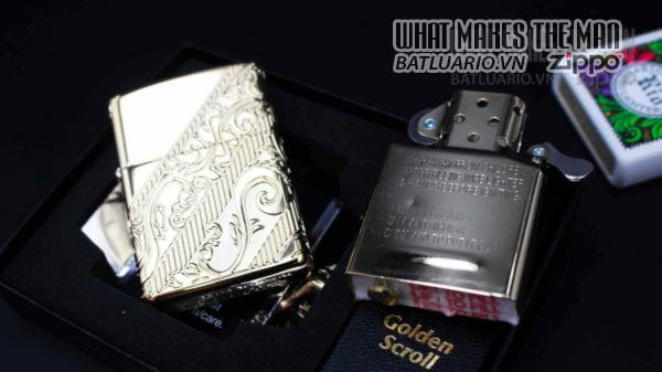 Zippo 2018 Collectible of the Year Gold Plated Armor -ZIPPO COTY 2018 - Zippo GOLDEN SCROLL 14