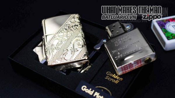 Zippo 2018 Collectible of the Year Gold Plated Armor -ZIPPO COTY 2018 - Zippo GOLDEN SCROLL 15