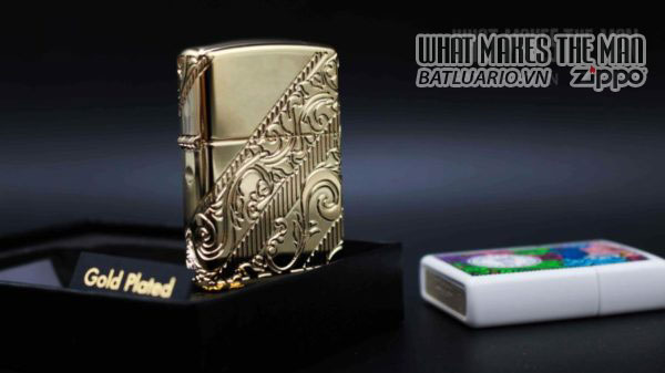 Zippo 2018 Collectible of the Year Gold Plated Armor -ZIPPO COTY 2018 - Zippo GOLDEN SCROLL 18