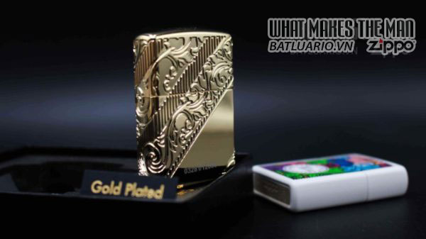 Zippo 2018 Collectible of the Year Gold Plated Armor -ZIPPO COTY 2018 - Zippo GOLDEN SCROLL 19