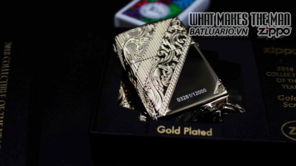Zippo 2018 Collectible of the Year Gold Plated Armor -ZIPPO COTY 2018 - Zippo GOLDEN SCROLL 6
