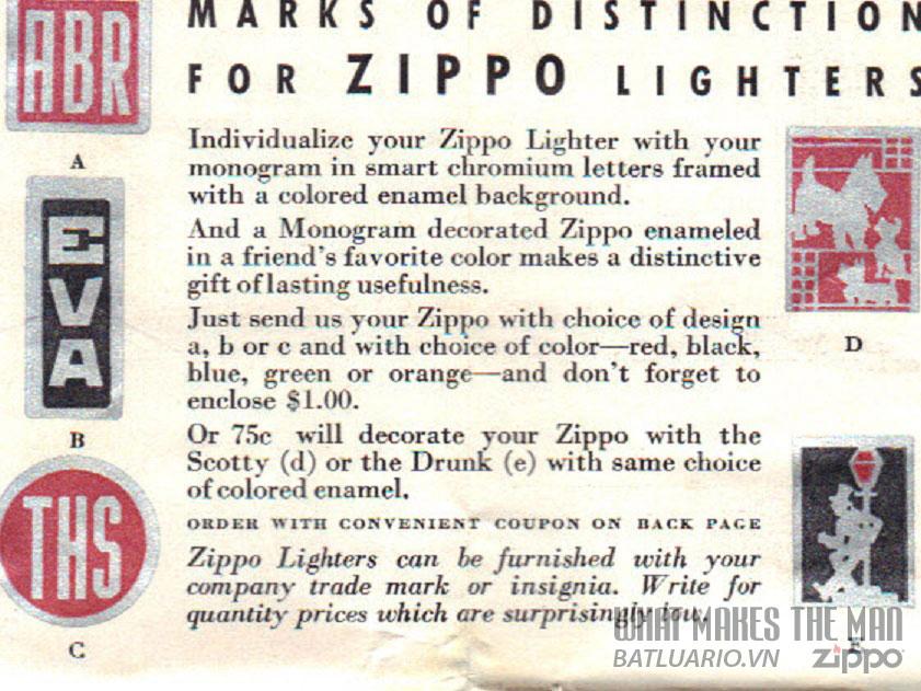 giấy hướng dẫn sử dụng zippo năm 1933-36 4