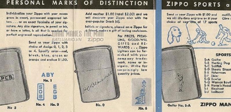Giấy hướng dẫn sử dụng Zippo năm1949 - 1951 1