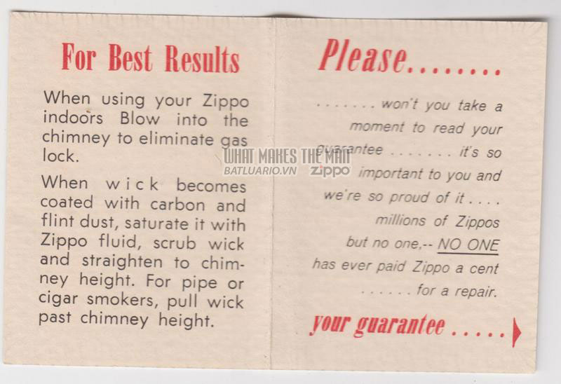 Giấy hướng dẫn sử dụng SLIM1959 - 1961 2
