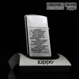 ZIPPO SLIM 1960 – TOWN & COUNTRY – THE WICKES CORPORATION 6