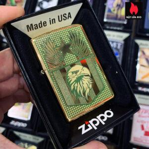 Zippo 254B Flag And Eagle