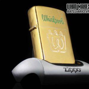 HIẾM – ZIPPO XƯA 1952 – 1954 – WHIRLPOOL – GOLD PLATE
