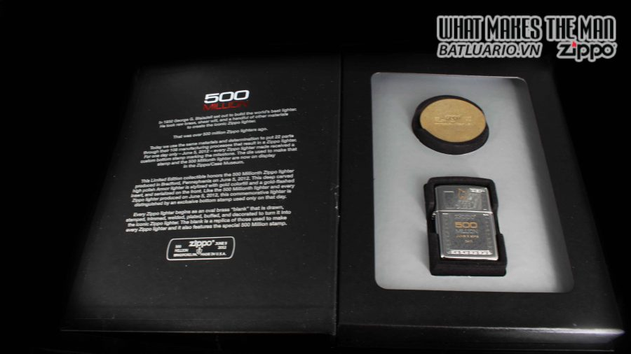 ZIPPO 2012 – 500 MILLION LIMITED EDITION – LIMITED 3411 3