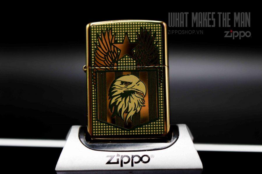 ZIPPO 254B FLAG AND EAGLE 11