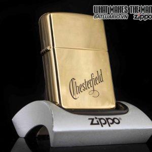 ZIPPO LA MÃ 1989 – GOLD PLATE – CHESTERFIELD