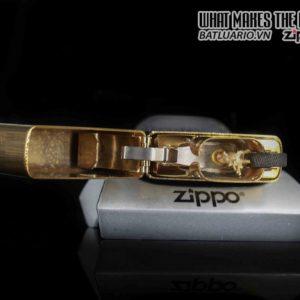 ZIPPO LA MÃ 1989 – GOLD PLATE – CHESTERFIELD 5