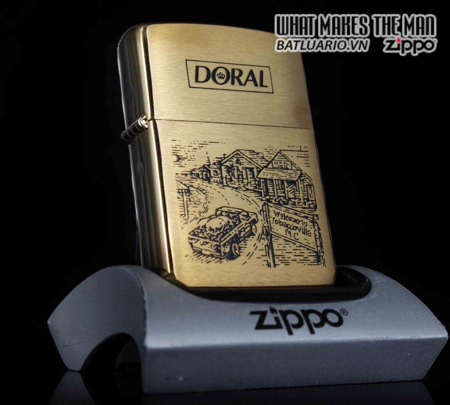 ZIPPO LA MÃ 1995 – ĐỒNG NGUYÊN KHỐI – DORAL TOBACCOVILLE