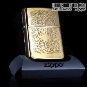 ZIPPO LA MÃ 1996 – MẠ VÀNG 22K – CAMEL GOLD PLATE 22K