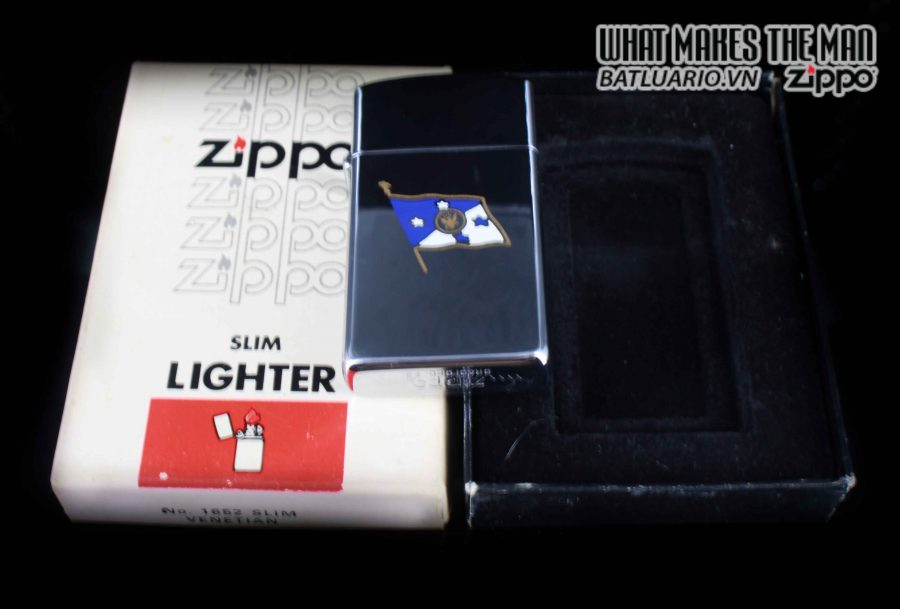 ZIPPO SLIM XƯA 1982 – PRESENTED BY JAMES D. WATKINS – USN CHIEF OF NAVAL OPERATIONS 1
