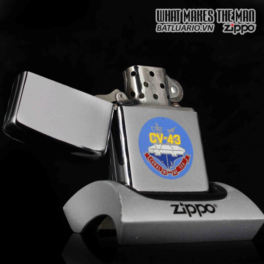 ZIPPO XƯA 1981 – USS CORAL SEA CV 43 – PRESENTED BY COMMANDING OFFICER CAPTIAN J.L JOHNSON 1