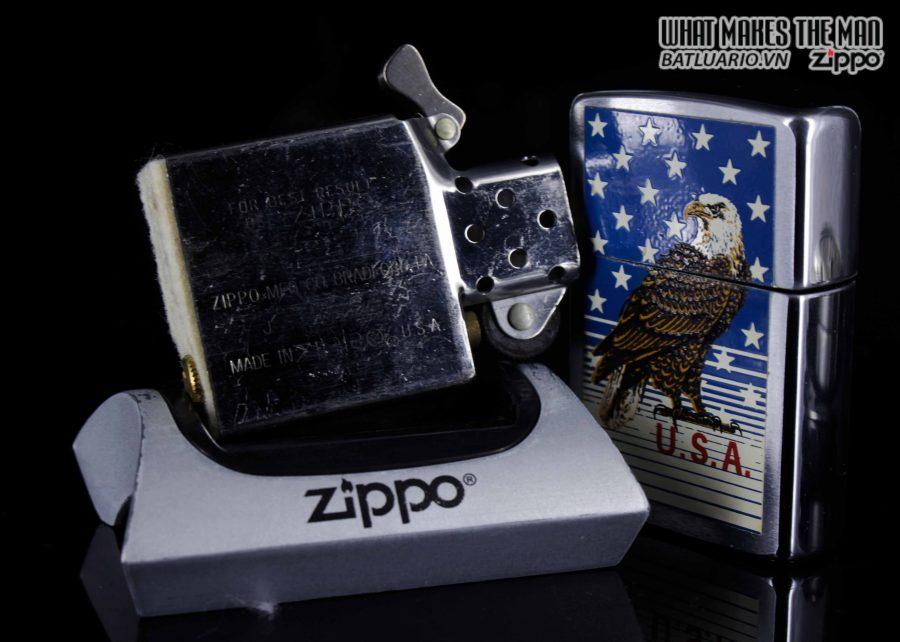 ZIPPO LA MÃ 1989 – AMERICAN EAGLE 3