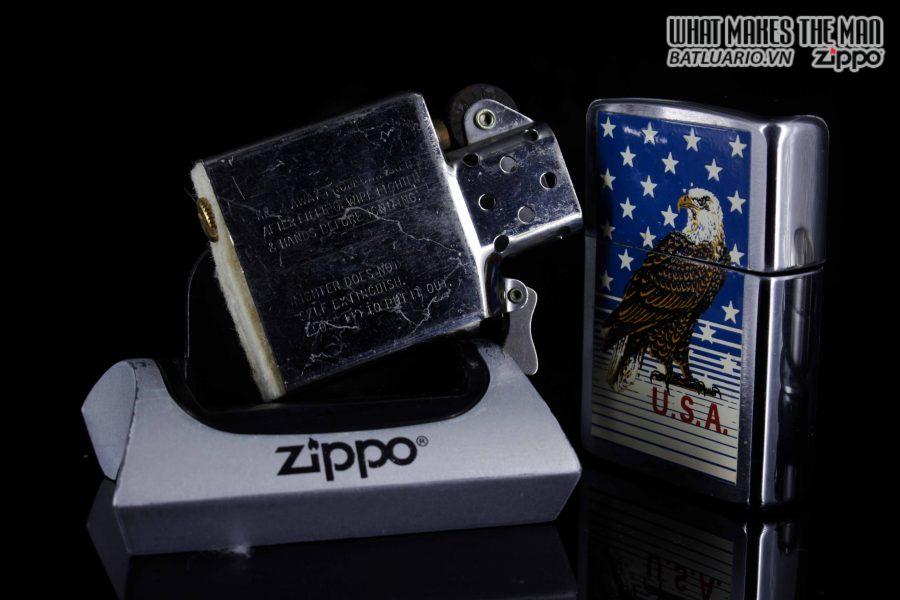 ZIPPO LA MÃ 1989 – AMERICAN EAGLE 4