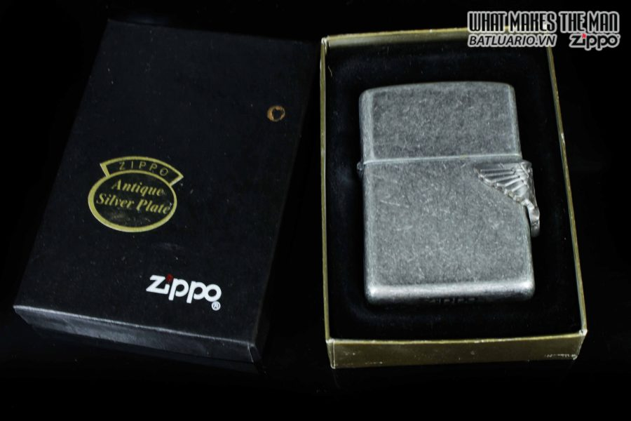 ZIPPO LA MÃ 1994 – ANTIQUE SILVER – CAMEL 1