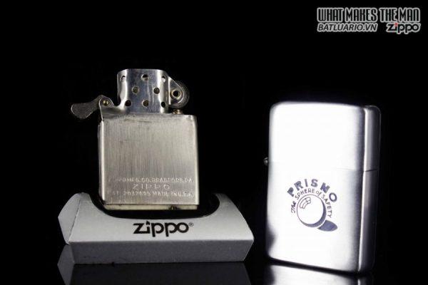 ZIPPO XƯA 1951 – 1952 – VỎ SẮT RUỘT SẮT – PRISMO 2