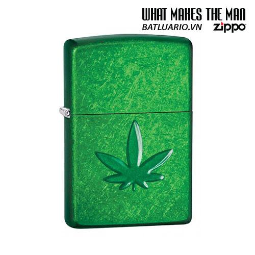 Zippo 29662 - Zippo Stamped Weed Leaf Meadow