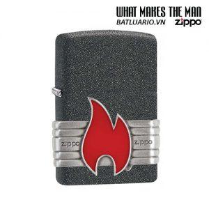 Zippo 29663 - Zippo Vintage Red Flame Wrap Iron Stone