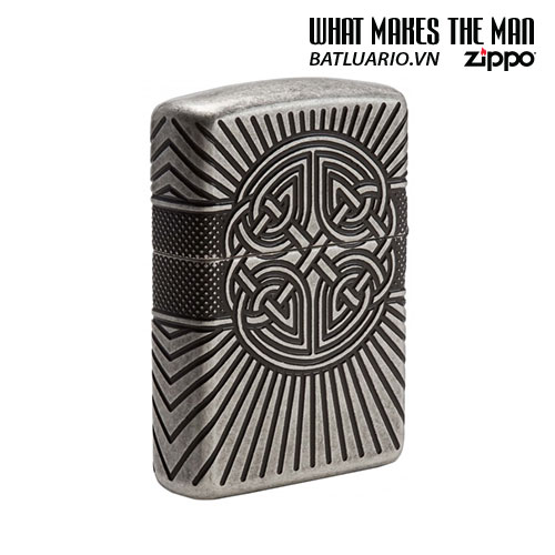 Zippo 29667 - Zippo Armor Multicut Celtic Cross and Knot Antique Silver 1