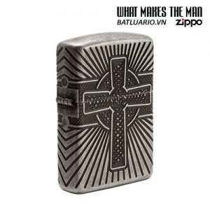 Zippo 29667 - Zippo Armor Multicut Celtic Cross and Knot Antique Silver