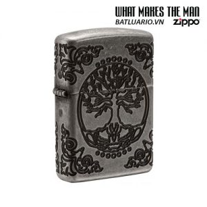 Zippo 29670 - Zippo Armor Multicut Tree of Life Antique Silver