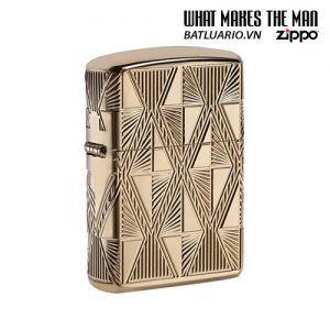Zippo 29671 - Zippo Luxury Diamond Design High Polish Gold Plate