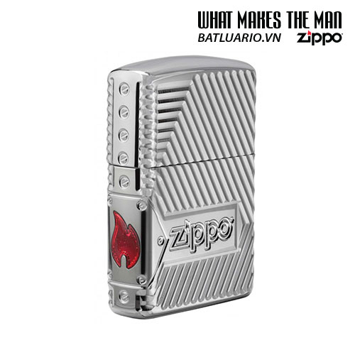 Zippo 29672 - Zippo Armor Multicut Bolts and Flame High Polish Chrome 1