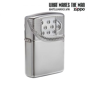 Zippo 29674 - Zippo Armor Multicut Insert Zipper High Polish Chrome