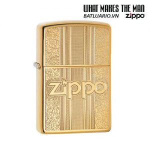 Zippo 29677 - Zippo Engraved Pattern High Polish Brass